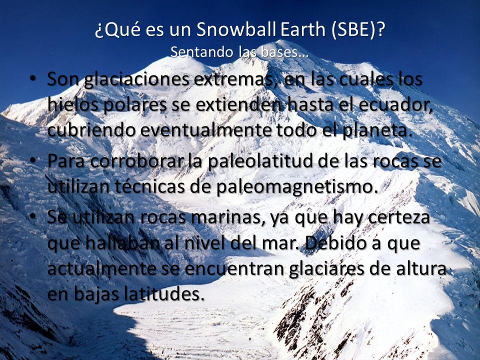 ¿Qué es un Snowball Earth (SBE).