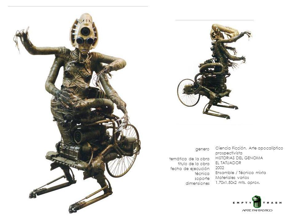 genero temática de la obra titulo de la obra fecha de ejecución técnica soporte dimensiones Ciencia Ficción, Arte apocalíptico prospectivista HISTORIA