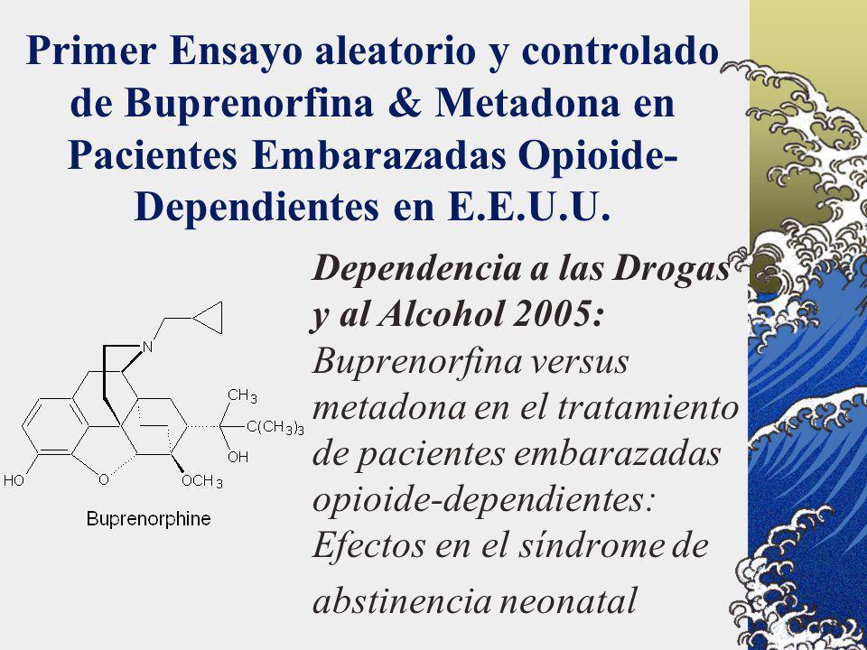 Primer Ensayo aleatorio y controlado de Buprenorfina & Metadona en Pacientes Embarazadas Opioide- Dependientes en E.E.U.U. Dependencia a las Drogas y