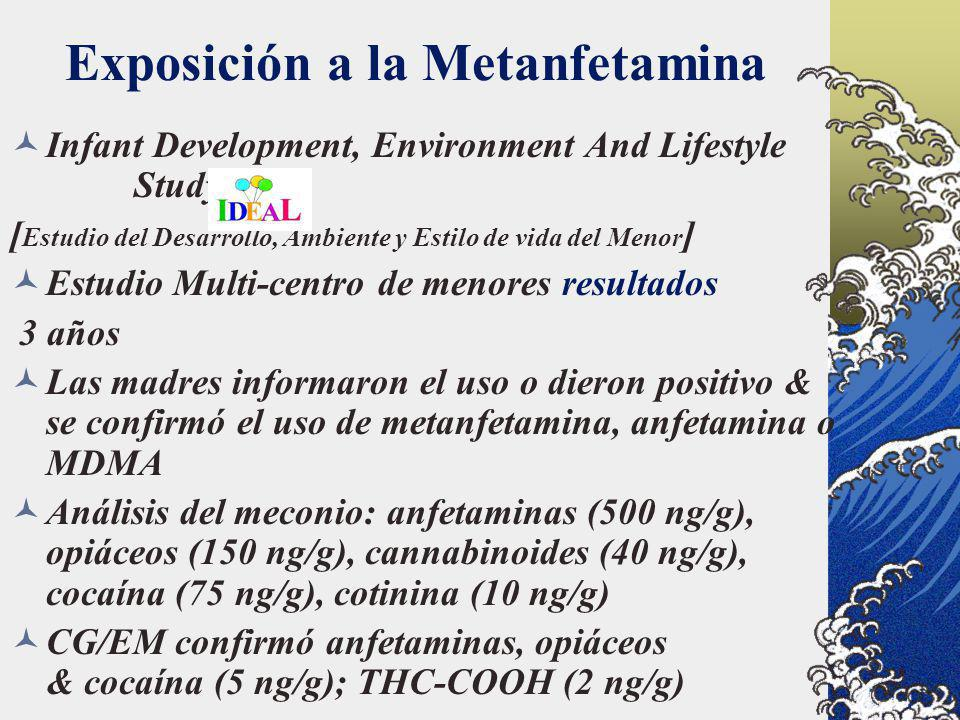 Exposición a la Metanfetamina Infant Development, Environment And Lifestyle Study [ Estudio del Desarrollo, Ambiente y Estilo de vida del Menor ] Estu