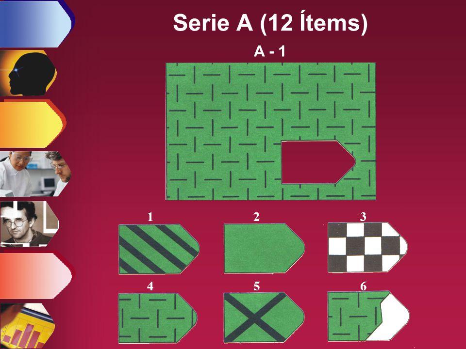 123 456 A - 1 Serie A (12 Ítems)