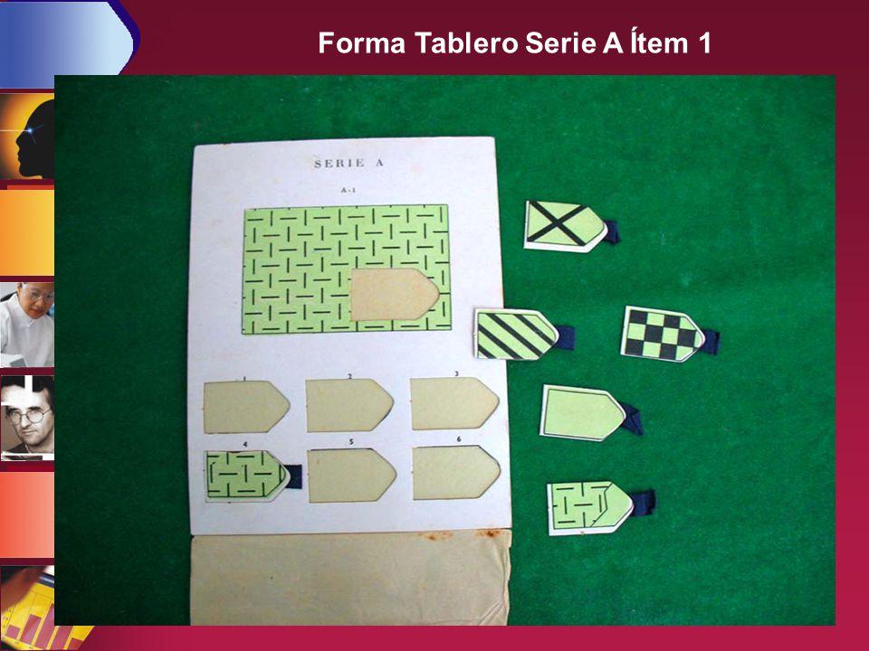 Forma Tablero Serie A Ítem 1