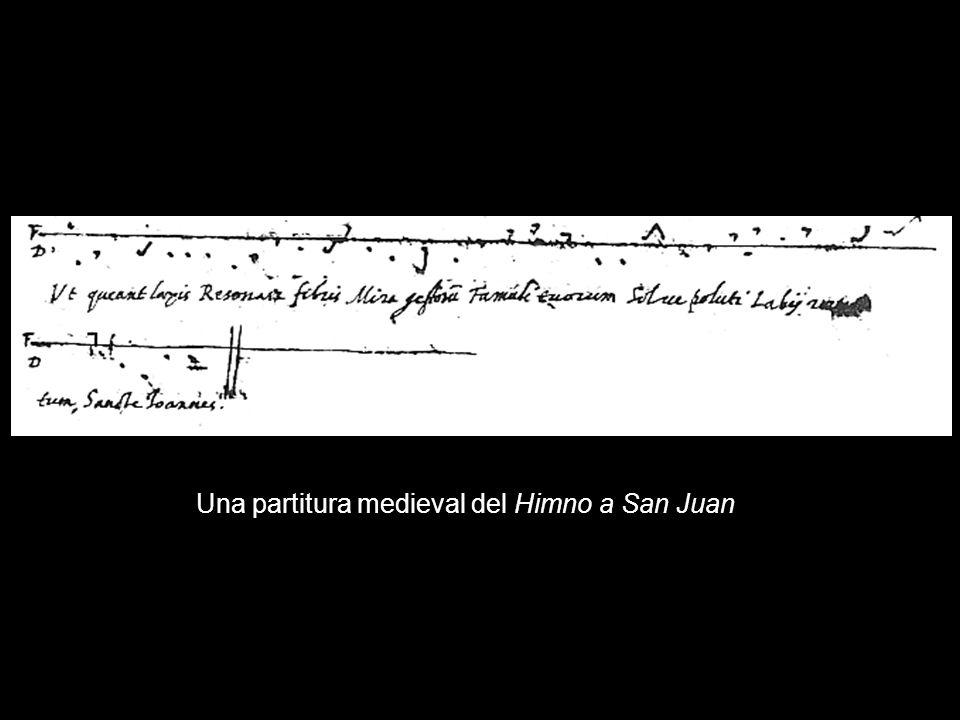 Una partitura medieval del Himno a San Juan