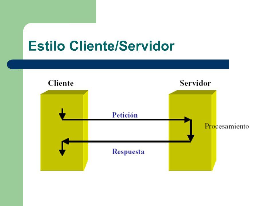 Arquitectura J2EE Los componentes se instalan en contenedores desde los que pueden utilizar los servicios de la plataforma El proceso de ensamblado de los componentes requiere especificar el soporte del servidor J2EE – Seguridad: usuarios autorizados – Modelo de gestión de transacciones: relaciones entre métodos que constituyen una transacción (tratados como una unidad) – Java Naming and Directory Interface (JNDI): acceso a servicios de nombres y directorio – Conectividad remota: permite que los clientes invoquen métodos en los EJBs como si estuvieran en la misma máquina virtual