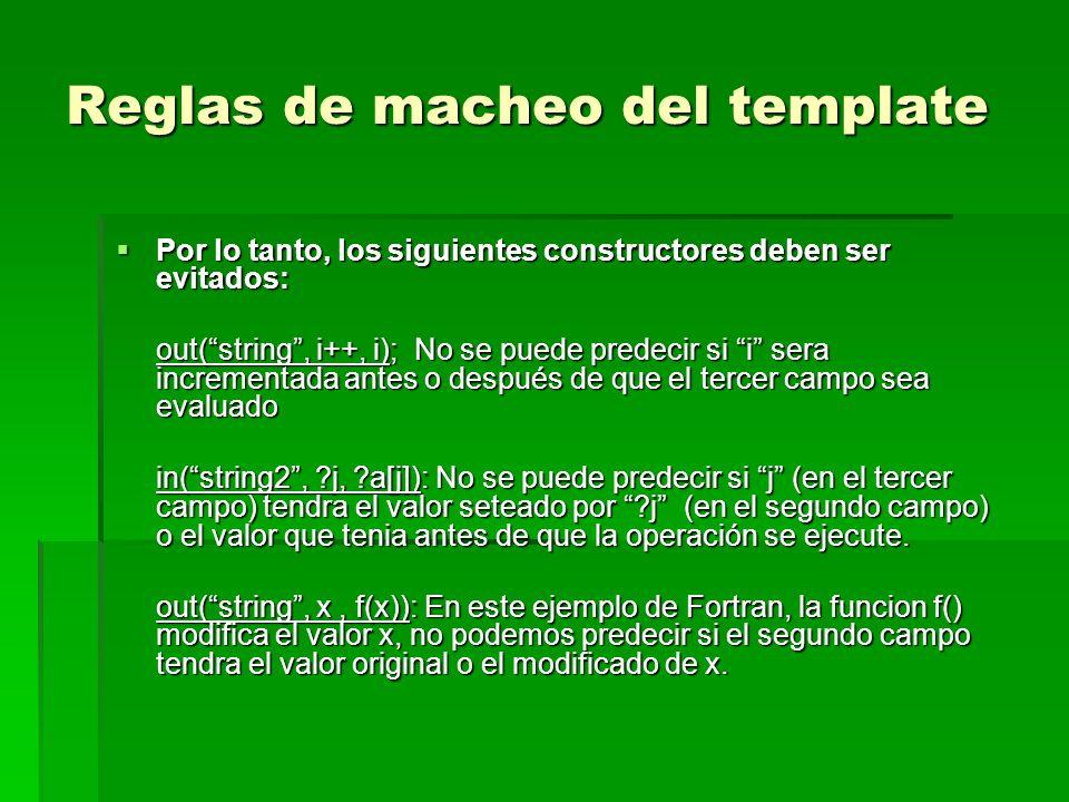 Reglas de macheo del template Por lo tanto, los siguientes constructores deben ser evitados: Por lo tanto, los siguientes constructores deben ser evit