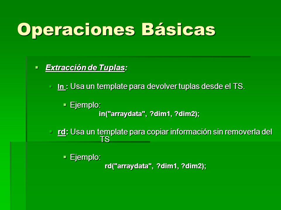 Extracción de Tuplas: Extracción de Tuplas: In : Usa un template para devolver tuplas desde el TS. In : Usa un template para devolver tuplas desde el