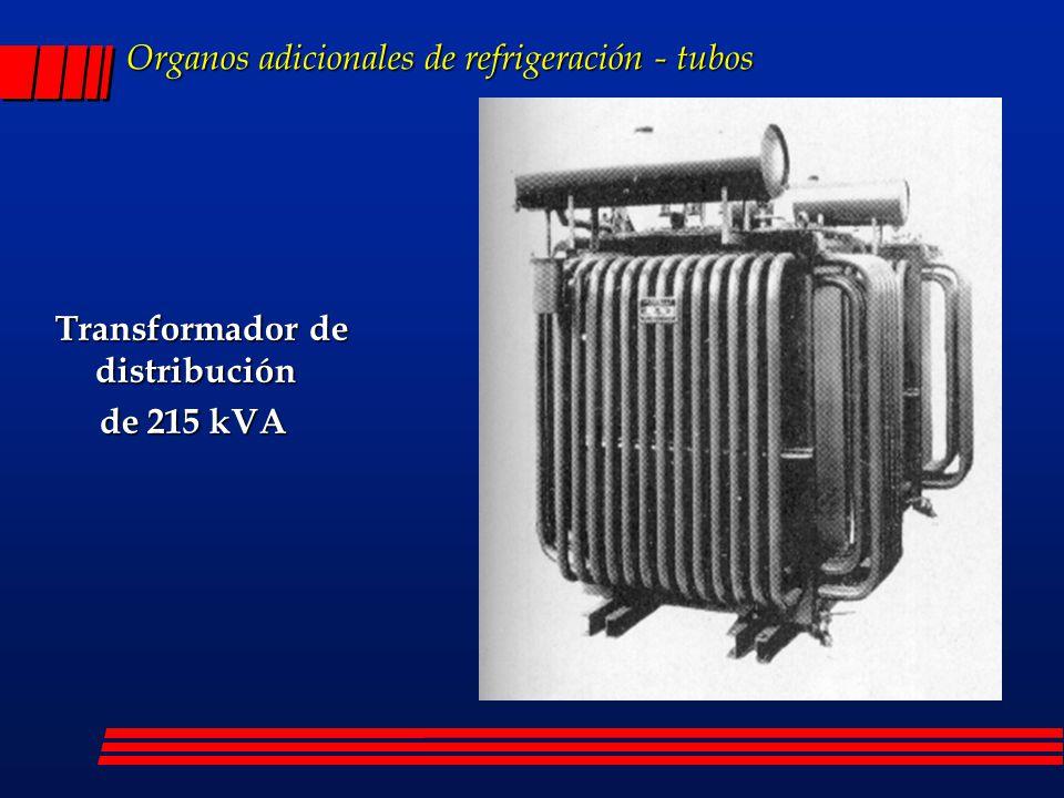 Organos adicionales de refrigeración - tubos Transformador de distribución de 215 kVA de 215 kVA