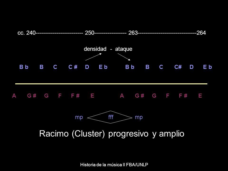 B b B C C # D E b A G # G F F # E mp fff mp densidad - ataque cc.
