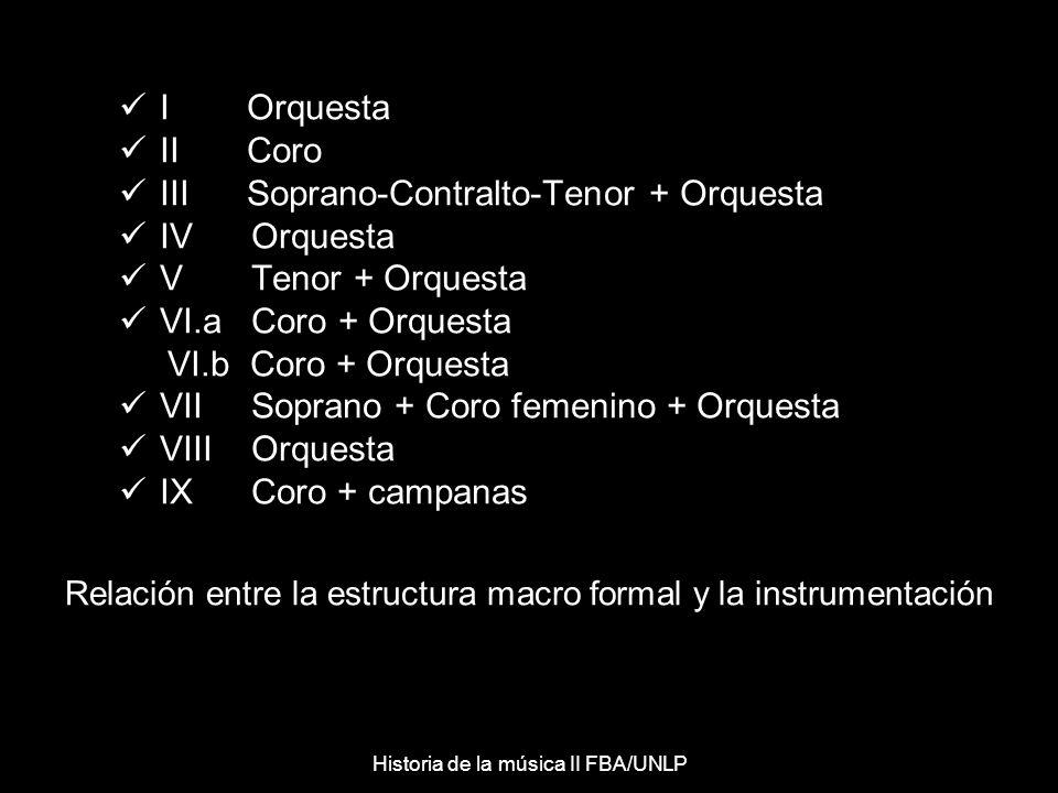 Solo Coro Orquesta Semejanza con la alternancia de la Cantata barroca Historia de la música II FBA/UNLP
