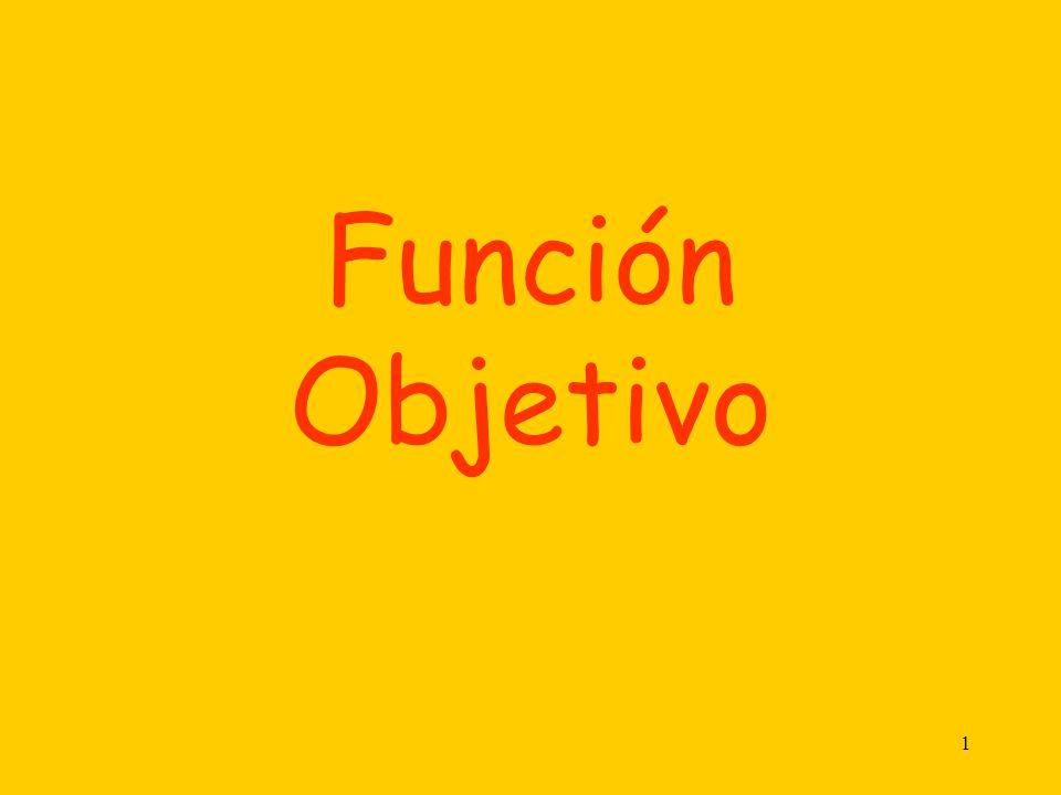 1 Función Objetivo