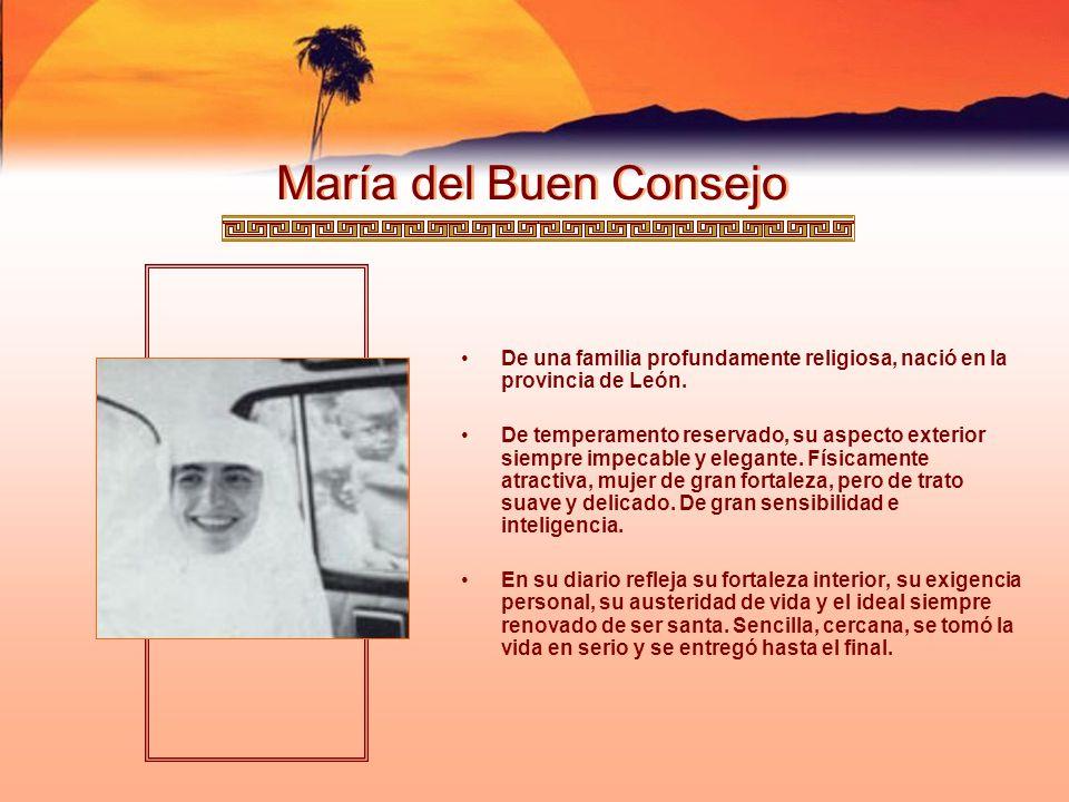 María Olimpia De origen vasco-navarro, su familia sencilla y católica, tiene entre sus miembros tres hijas religiosas: dos clarisas y una Misionera Dominica.
