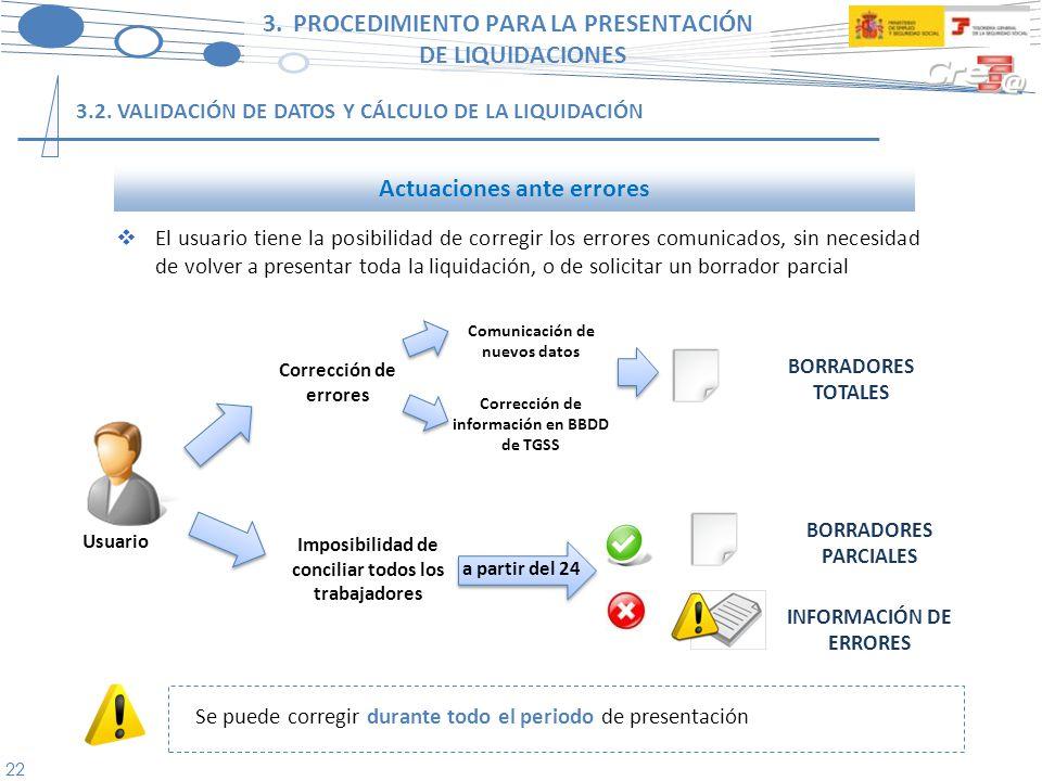 23 3.PROCEDIMIENTO PARA LA PRESENTACIÓN DE LIQUIDACIONES 3.3.