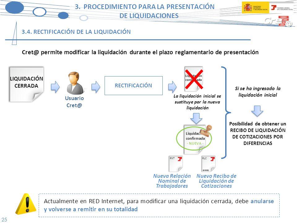 26 3.PROCEDIMIENTO PARA LA PRESENTACIÓN DE LIQUIDACIONES 3.5.