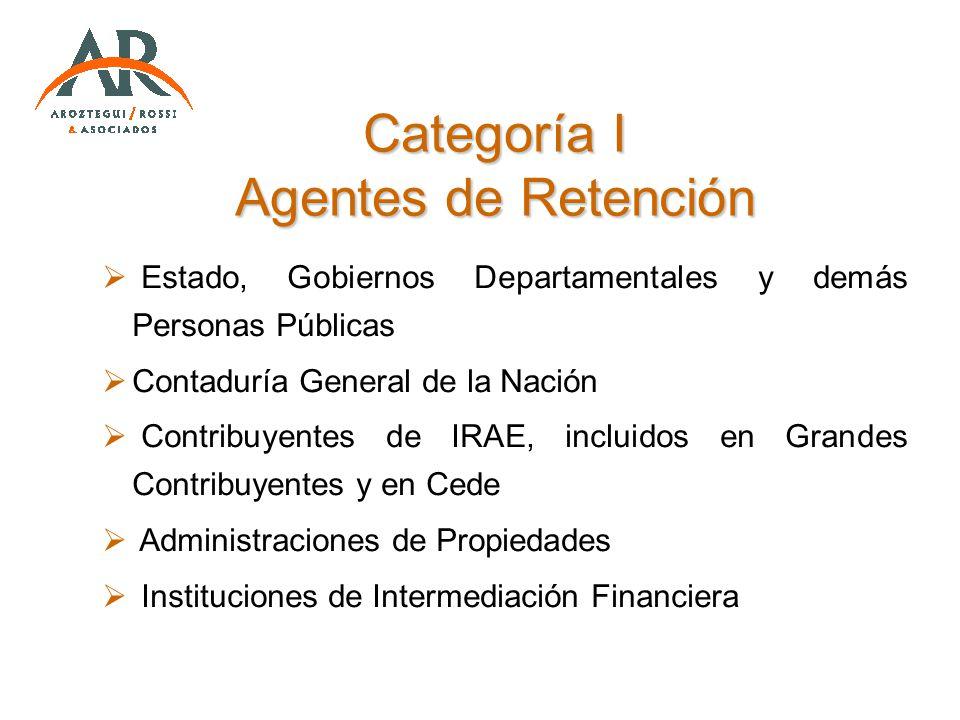 Estado, Gobiernos Departamentales y demás Personas Públicas Contaduría General de la Nación Contribuyentes de IRAE, incluidos en Grandes Contribuyente
