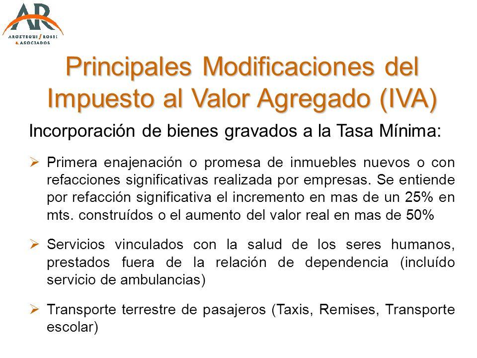 Incorporación de bienes gravados a la Tasa Mínima: Primera enajenación o promesa de inmuebles nuevos o con refacciones significativas realizada por em