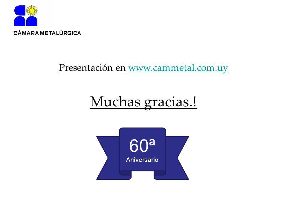 CÁMARA METALÚRGICA Presentación en www.cammetal.com.uywww.cammetal.com.uy Muchas gracias..