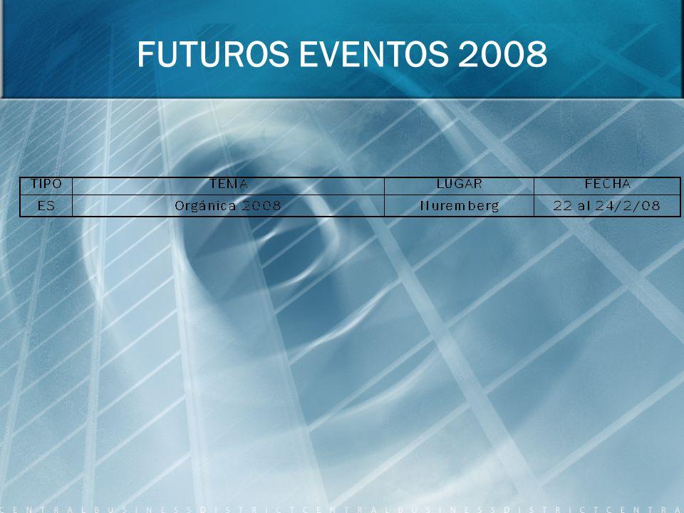 FUTUROS EVENTOS 2008