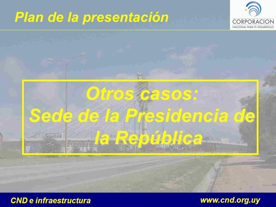 www.cnd.org.uy CND e infraestructura Plan de la presentación Otros casos: Sede de la Presidencia de la República