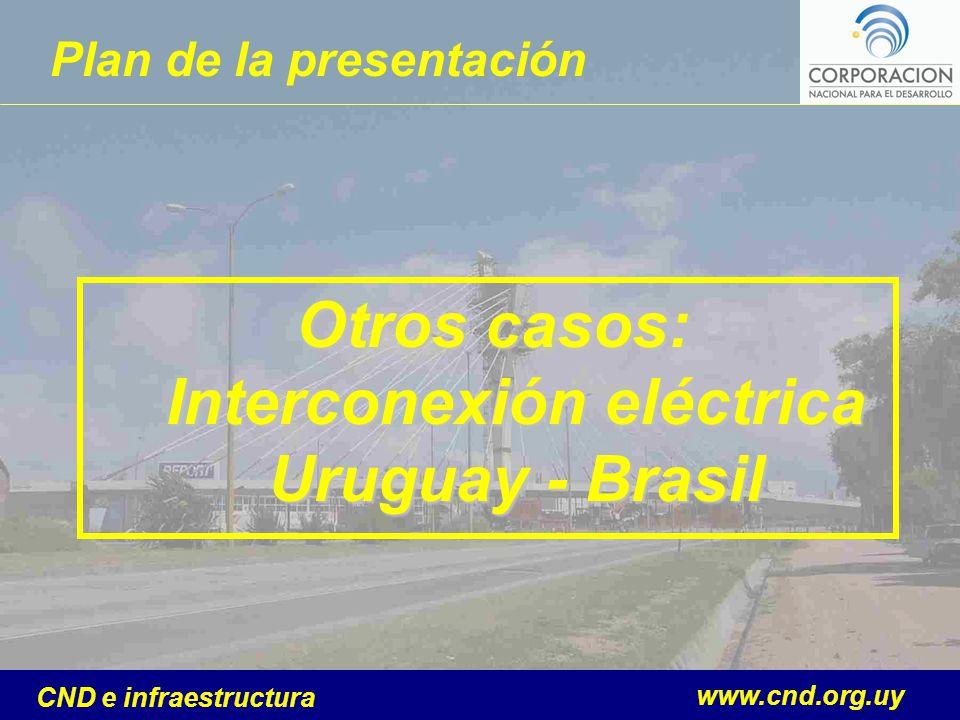 www.cnd.org.uy CND e infraestructura Plan de la presentación Otros casos: Interconexión eléctrica Uruguay - Brasil