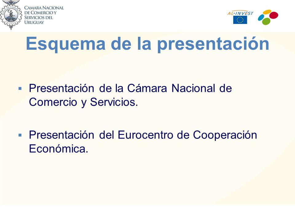 Esquema de la presentación Presentación de la Cámara Nacional de Comercio y Servicios.