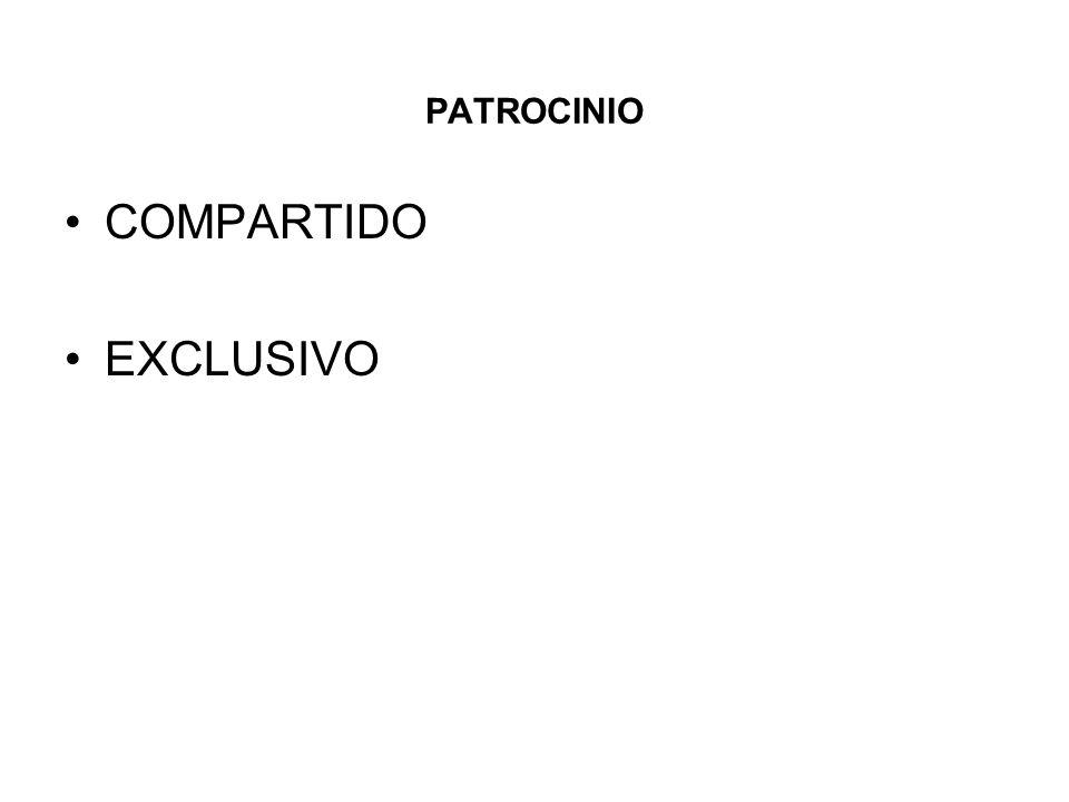 PATROCINIO COMPARTIDO EXCLUSIVO