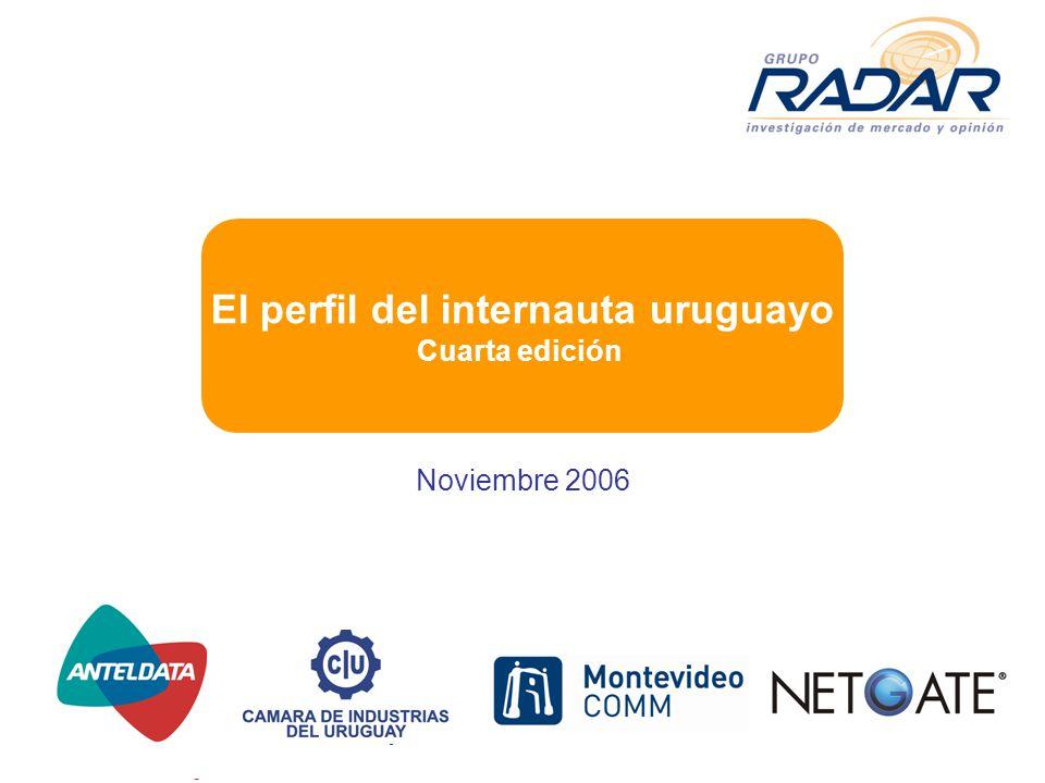 Noviembre 2006 El perfil del internauta uruguayo Cuarta edición