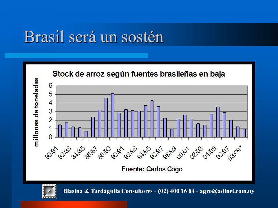 Blasina & Tardáguila Consultores - (02) 400 16 84 - agro@adinet.com.uy Brasil será un sostén