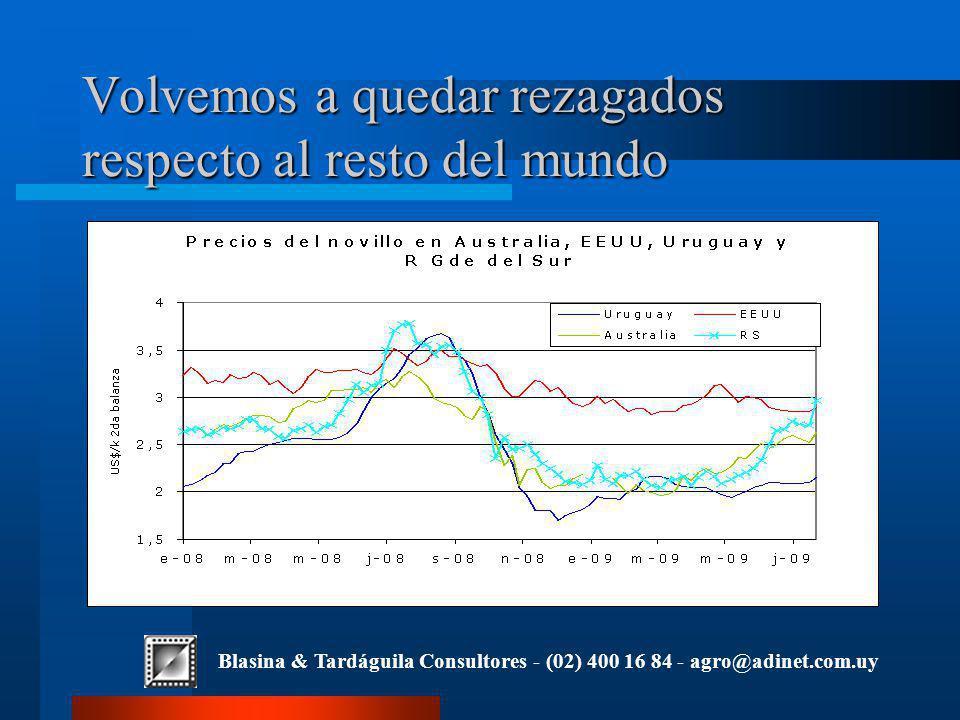 Blasina & Tardáguila Consultores - (02) 400 16 84 - agro@adinet.com.uy Volvemos a quedar rezagados respecto al resto del mundo