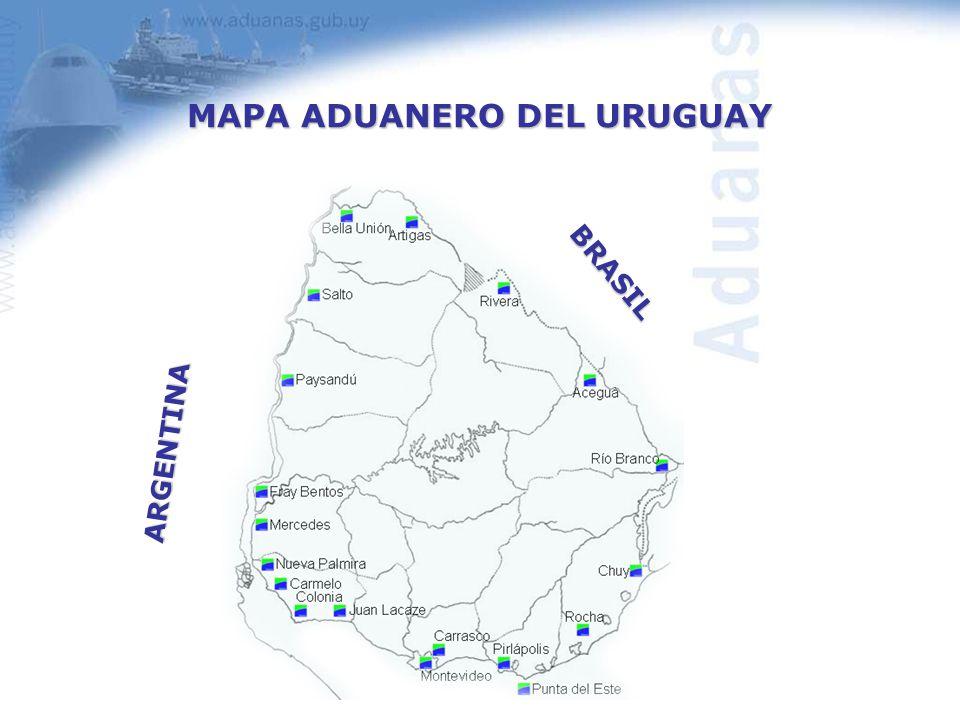 MAPA ADUANERO DEL URUGUAY ARGENTINA BRASIL