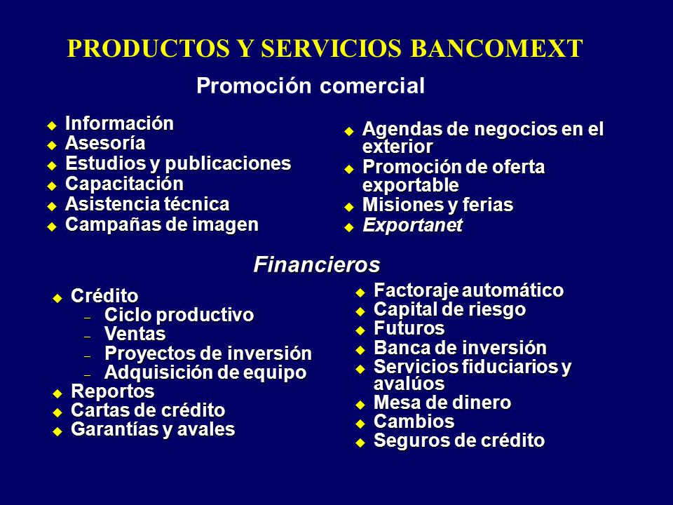 Información Información Asesoría Asesoría Estudios y publicaciones Estudios y publicaciones Capacitación Capacitación Asistencia técnica Asistencia té