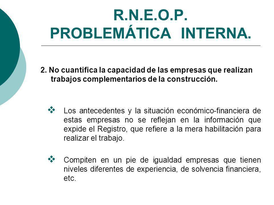 R.N.E.O.P.PROBLEMÁTICA INTERNA. 2.
