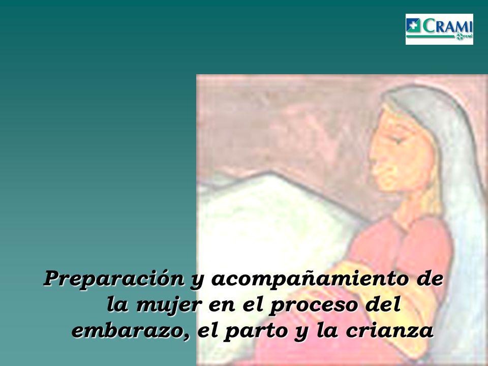 Preparación y acompañamiento de la mujer en el proceso del embarazo, el parto y la crianza