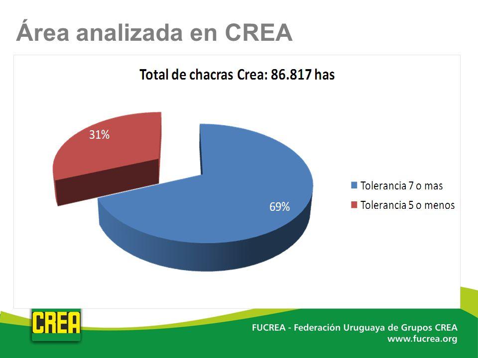Área analizada en CREA