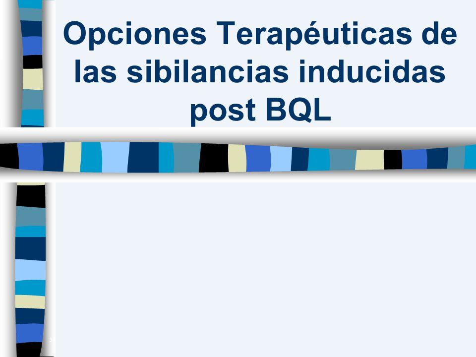 Opciones Terapéuticas de las sibilancias inducidas post BQL 38