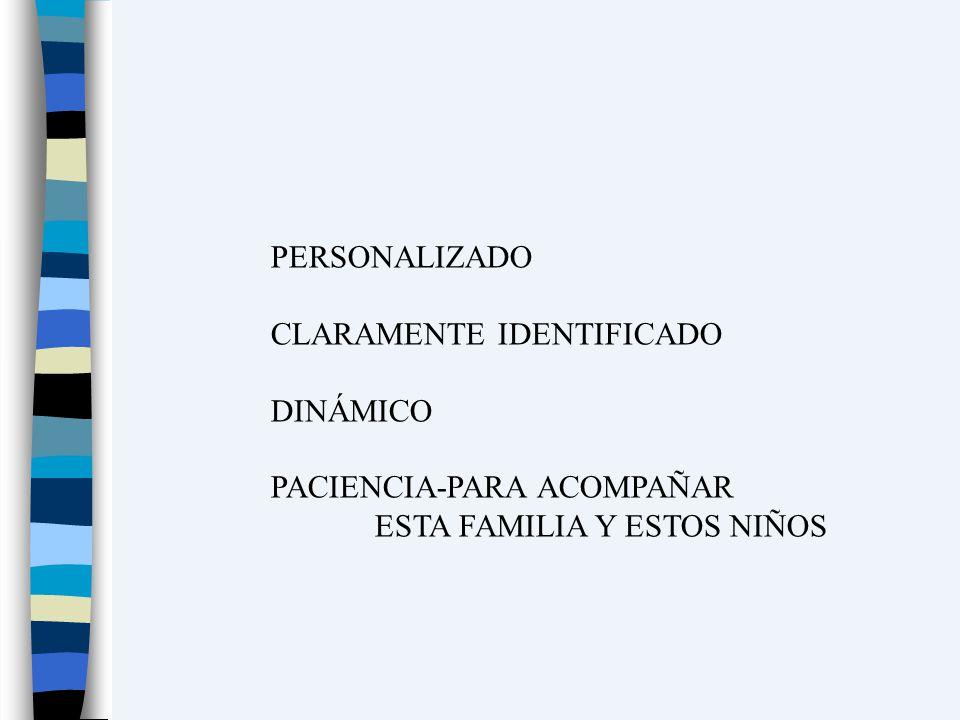 PERSONALIZADO CLARAMENTE IDENTIFICADO DINÁMICO PACIENCIA-PARA ACOMPAÑAR ESTA FAMILIA Y ESTOS NIÑOS