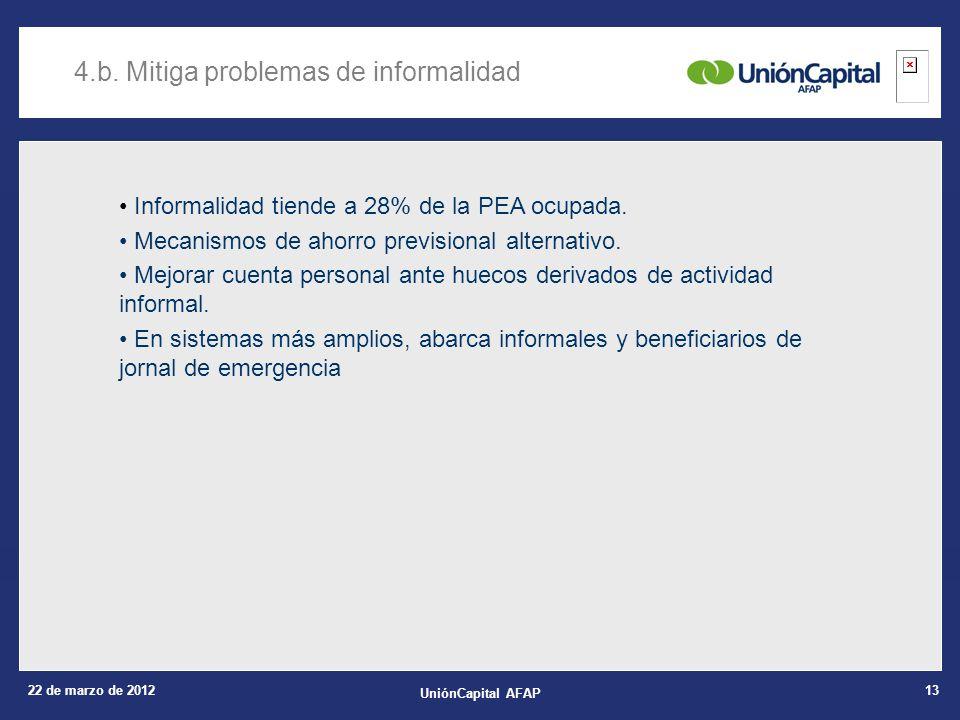 22 de marzo de 2012 UniónCapital AFAP 13 4.b.
