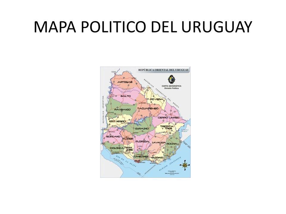 MAPA POLITICO DEL URUGUAY