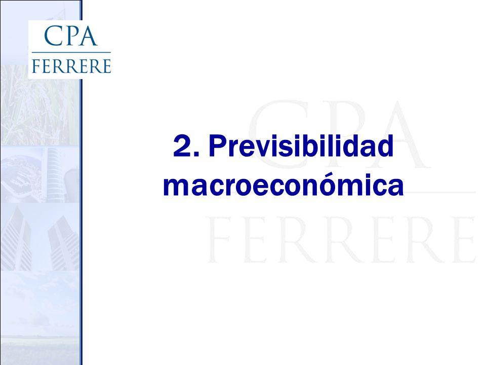 2. Previsibilidad macroeconómica