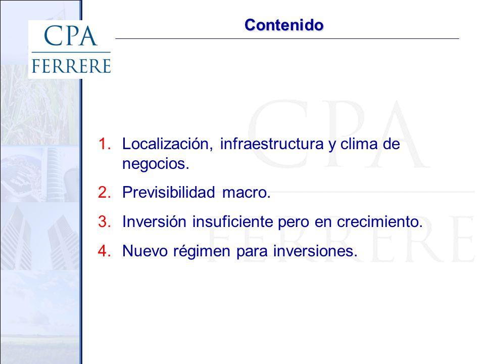 1. Localización, infraestructura y clima de negocios
