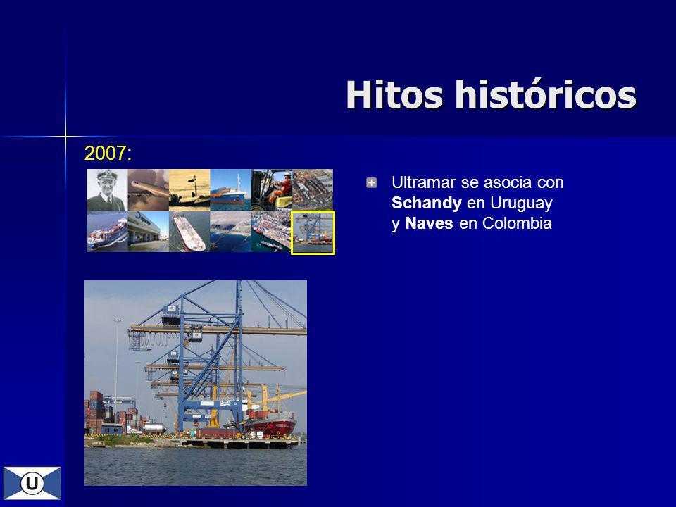 2007: Ultramar se asocia con Schandy en Uruguay y Naves en Colombia Hitos históricos