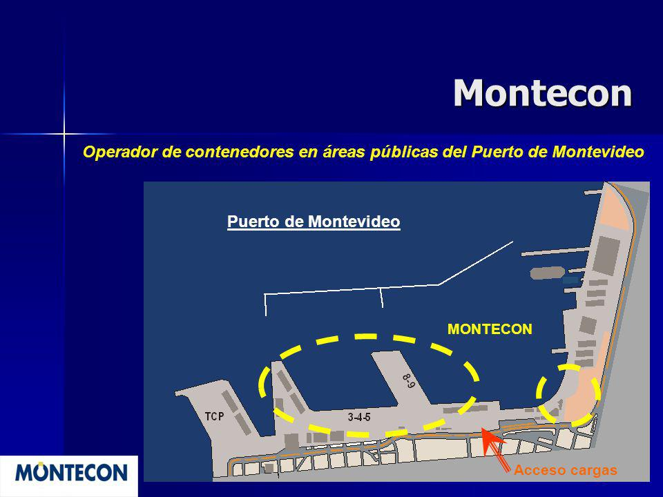 Montecon Operador de contenedores en áreas públicas del Puerto de Montevideo MONTECON Acceso cargas Puerto de Montevideo