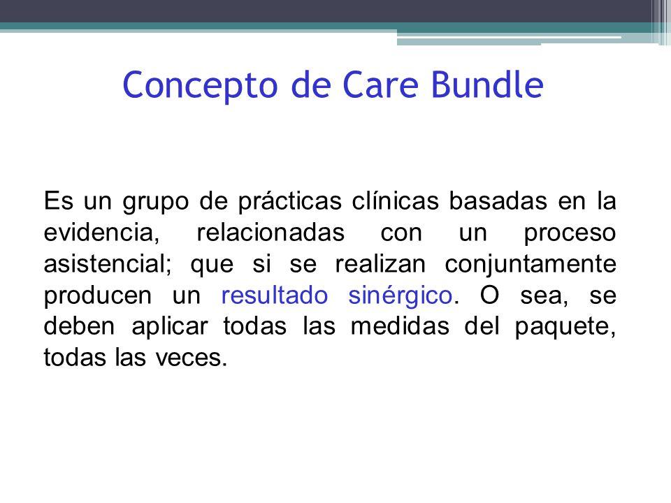 Es un grupo de prácticas clínicas basadas en la evidencia, relacionadas con un proceso asistencial; que si se realizan conjuntamente producen un resul