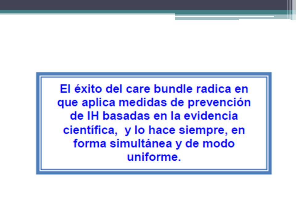 Implementación del paquete Revise el protocolo de inserción y cuidado de CVC.