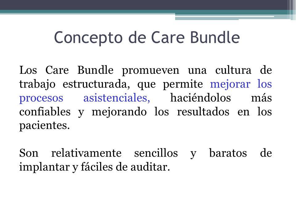 Los Care Bundle promueven una cultura de trabajo estructurada, que permite mejorar los procesos asistenciales, haciéndolos más confiables y mejorando