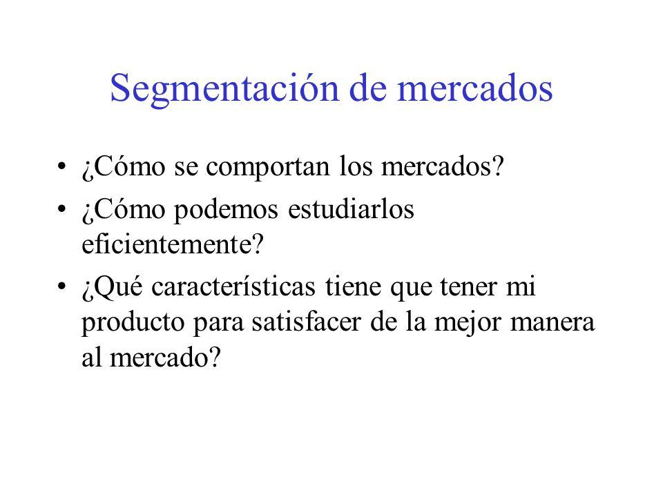 Evaluación de segmentos del mercado meta Factores a considerar: -El tamaño y el crecimiento del mercado, -El atractivo estructural del segmento (no es atractivo si tiene muchos competidores fuertes y dinámicos, o si tiene muchos productos sustitutos) -Los objetivos y recursos de la empresa