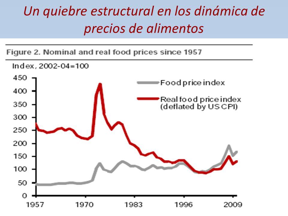 Un quiebre estructural en los dinámica de precios de alimentos