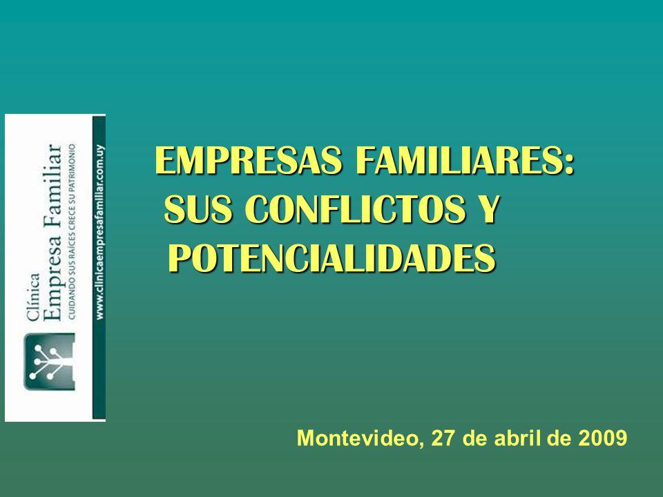 EMPRESAS FAMILIARES: SUS CONFLICTOS Y POTENCIALIDADES Montevideo, 27 de abril de 2009