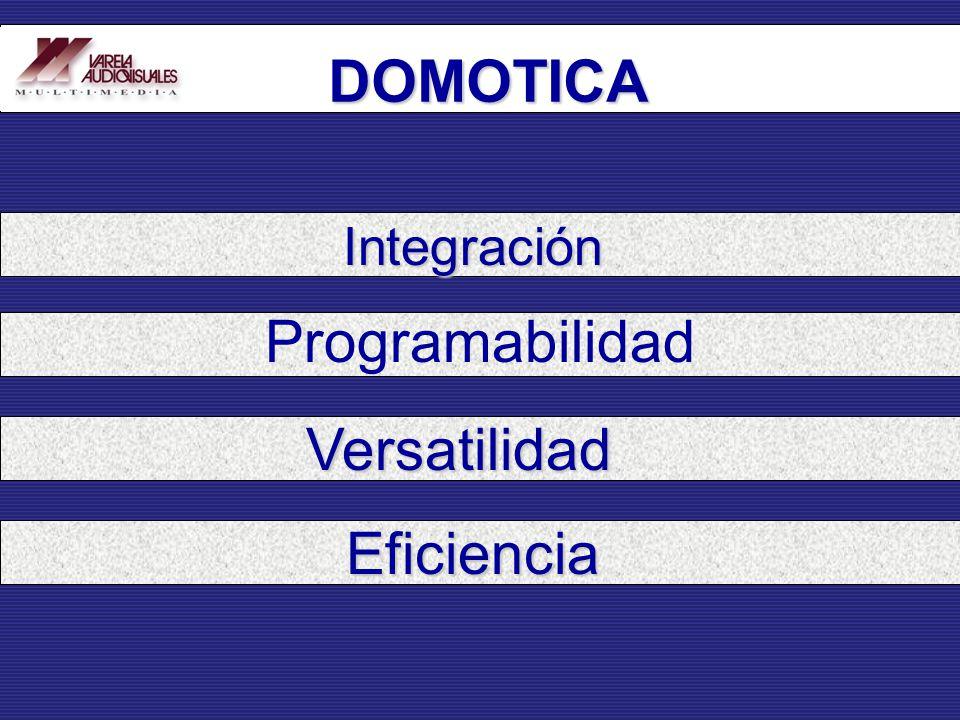 Integración Programabilidad Versatilidad Eficiencia DOMOTICA