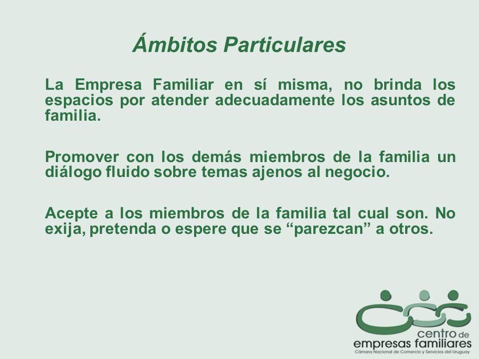 La Empresa Familiar en sí misma, no brinda los espacios por atender adecuadamente los asuntos de familia.