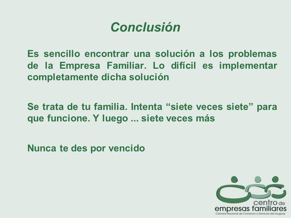 Es sencillo encontrar una solución a los problemas de la Empresa Familiar.